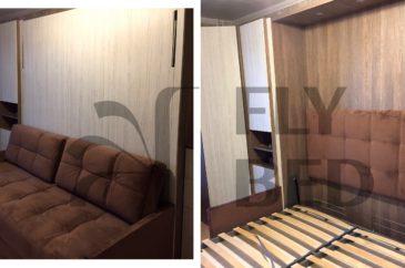 крупный проект со шкафами и кроватью-трансформером на заказ