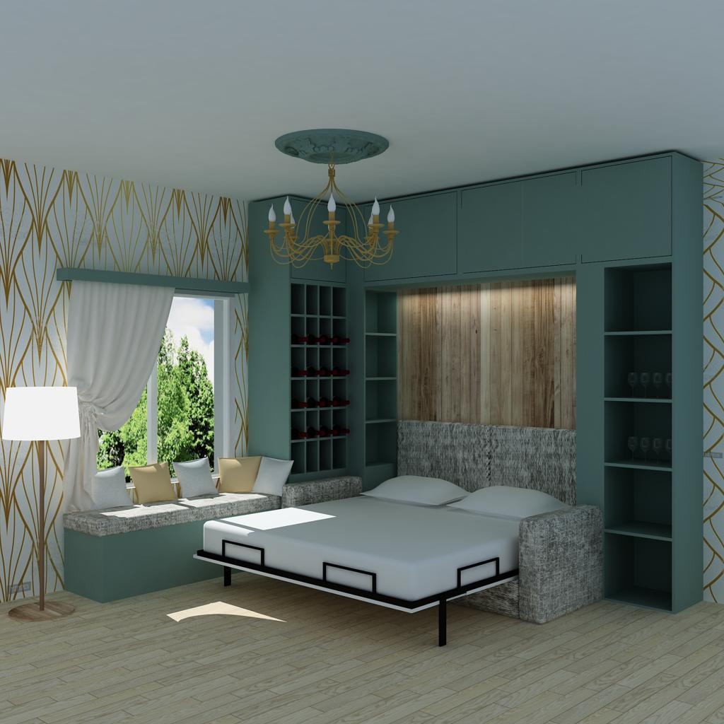 Мебельный уголок-трансформер в гостинную